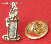 Candle Light Lapel Pin Badge Religious Christian Symbol Candlelight Brooch